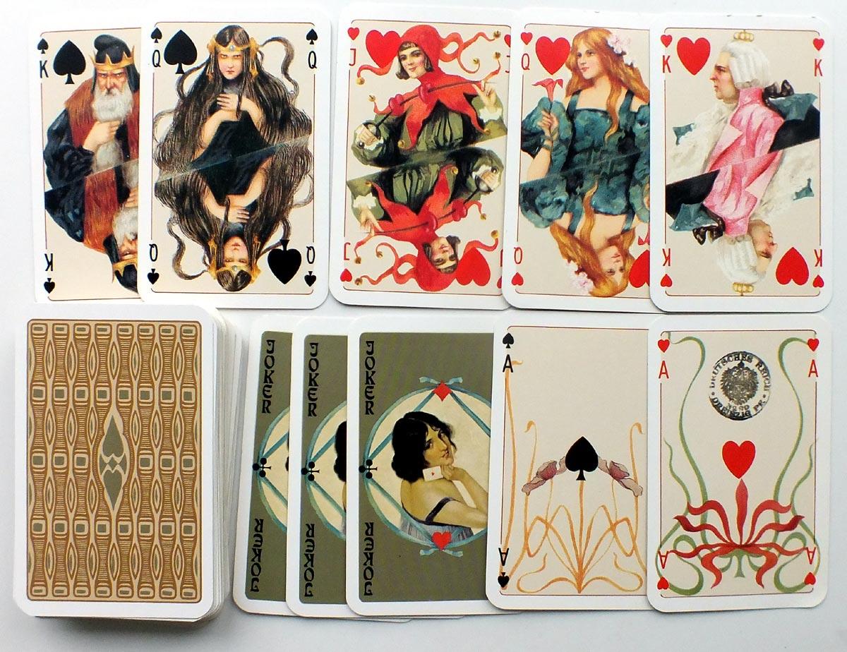Otto Tragy Jugendstil Spielkarten, 1979