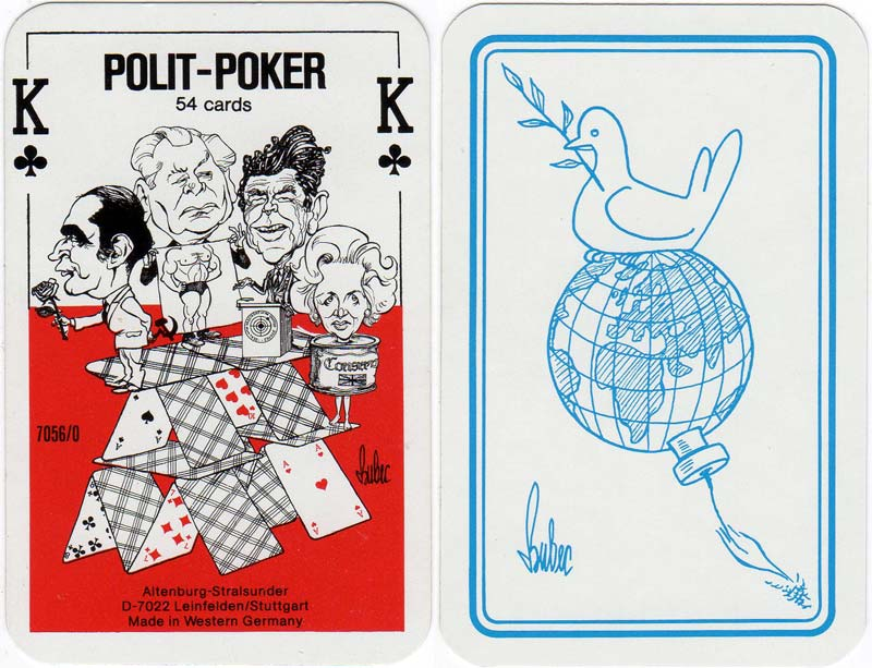 Polit-Poker designed by Bubec (Lutz Backes), 1984