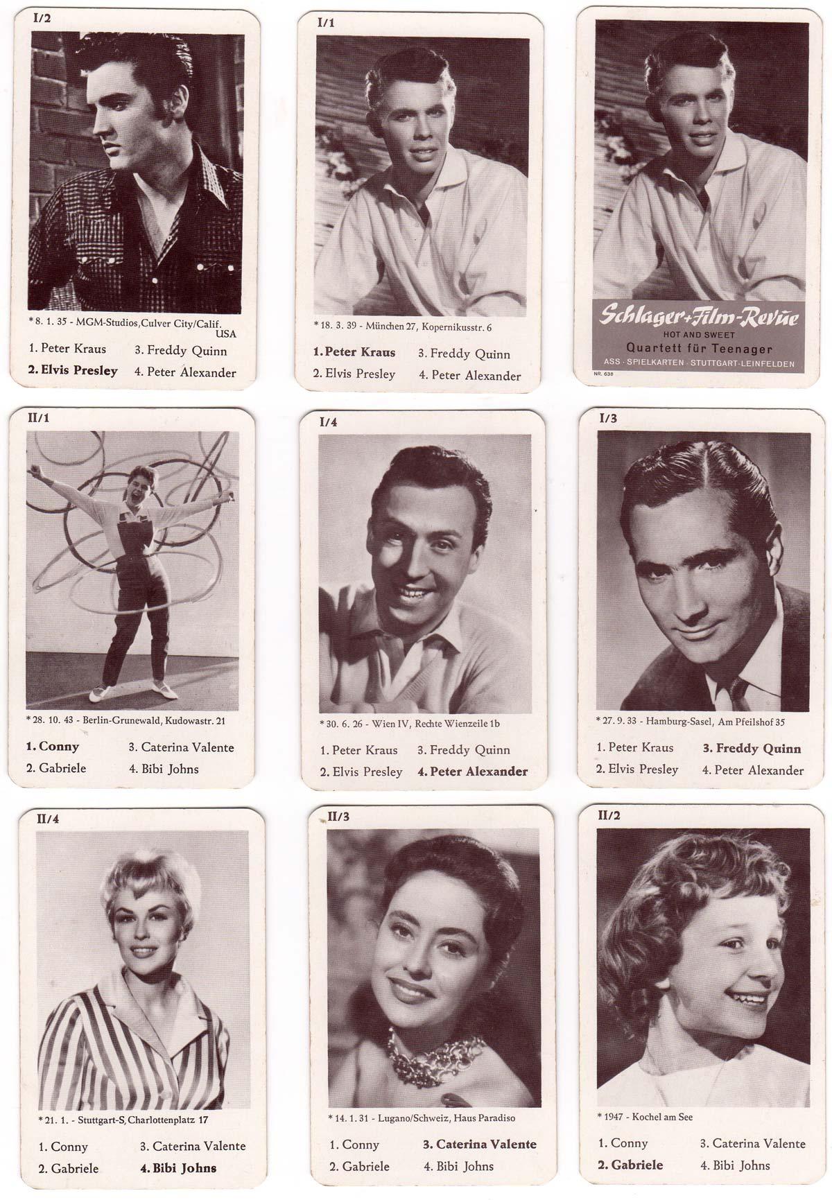 """Schlager Film Revue """"Hot and Sweet"""" Quartett für Teenager, c.1960"""