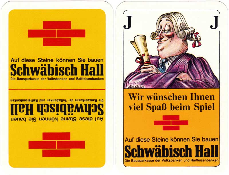 Schwäbisch Hall savings bank publicity deck designed by Alex Kardas, c.1975