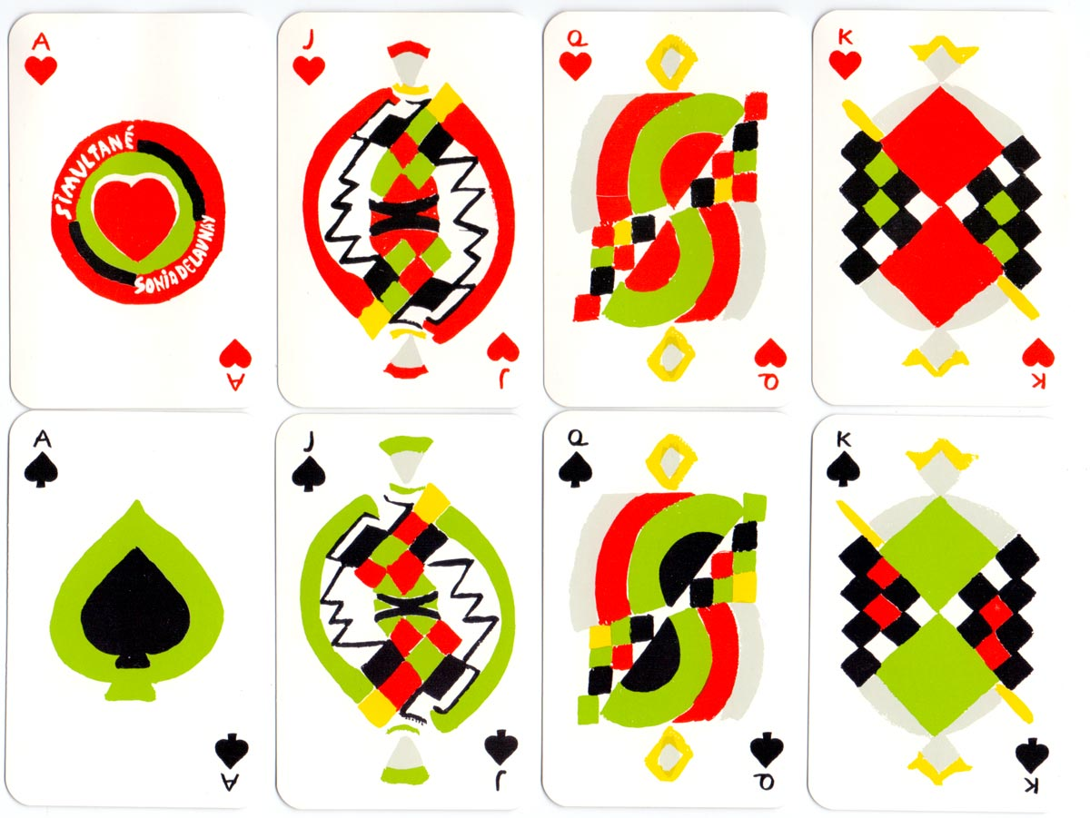 Simultané playing cards designed by Sonia Delaunay