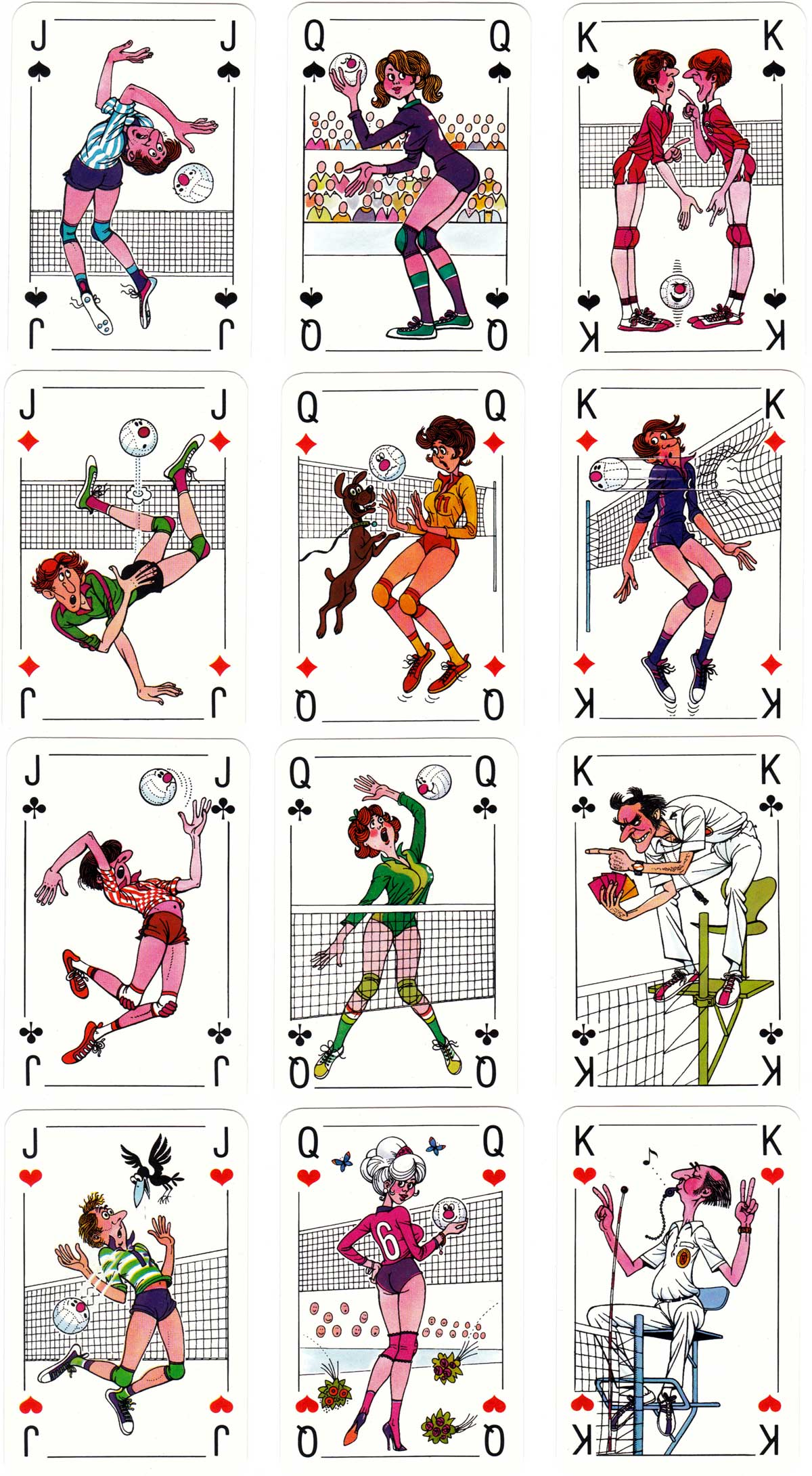 Volleyball European Championship Rummy, 1983, designed by Klaus Hennig