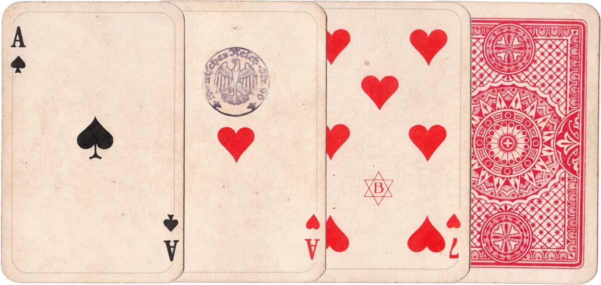 Bechstein designs printed by Vereinigte Stralsunder Spielkartenfabriken AG former Schneider & Co., c1925