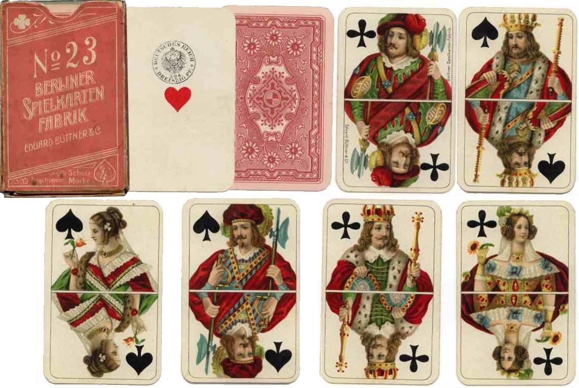 Clubkarte No 23 North German pattern manufactured by Eduard Buttner & Co. c.1900