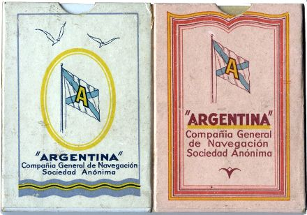 Boxes from Dondorf's Poker No. 140 for the Argentina Compañia General de Navegación Sociedad Anónima