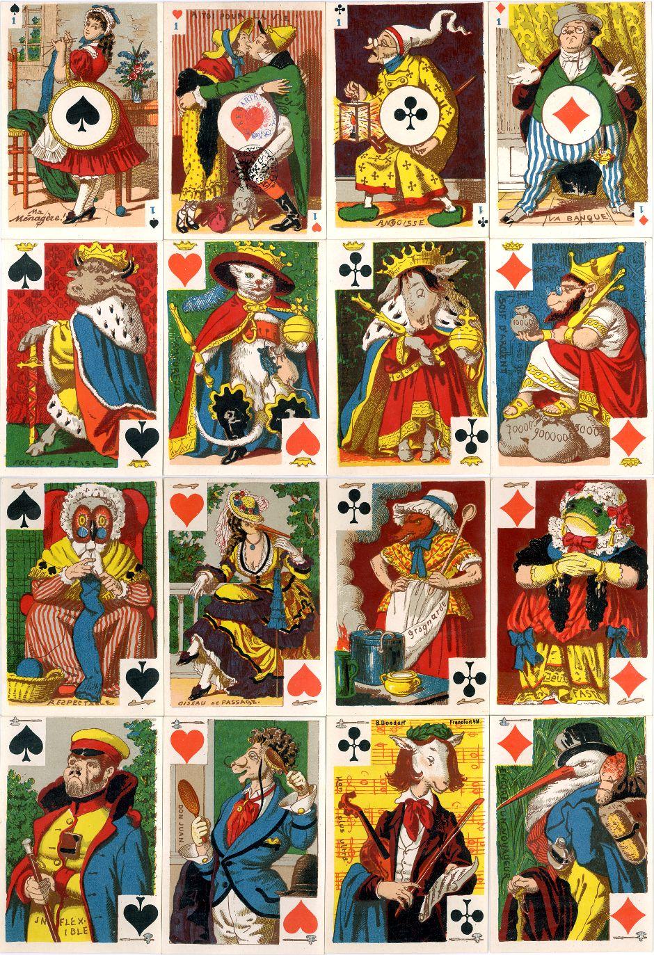 """B. Dondorf: """"Cartes Comiques"""", 1870-1888"""