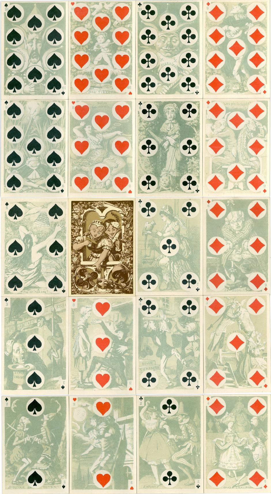 "B. Dondorf: ""Cartes Comiques"" numeral cards, 1870-1888"
