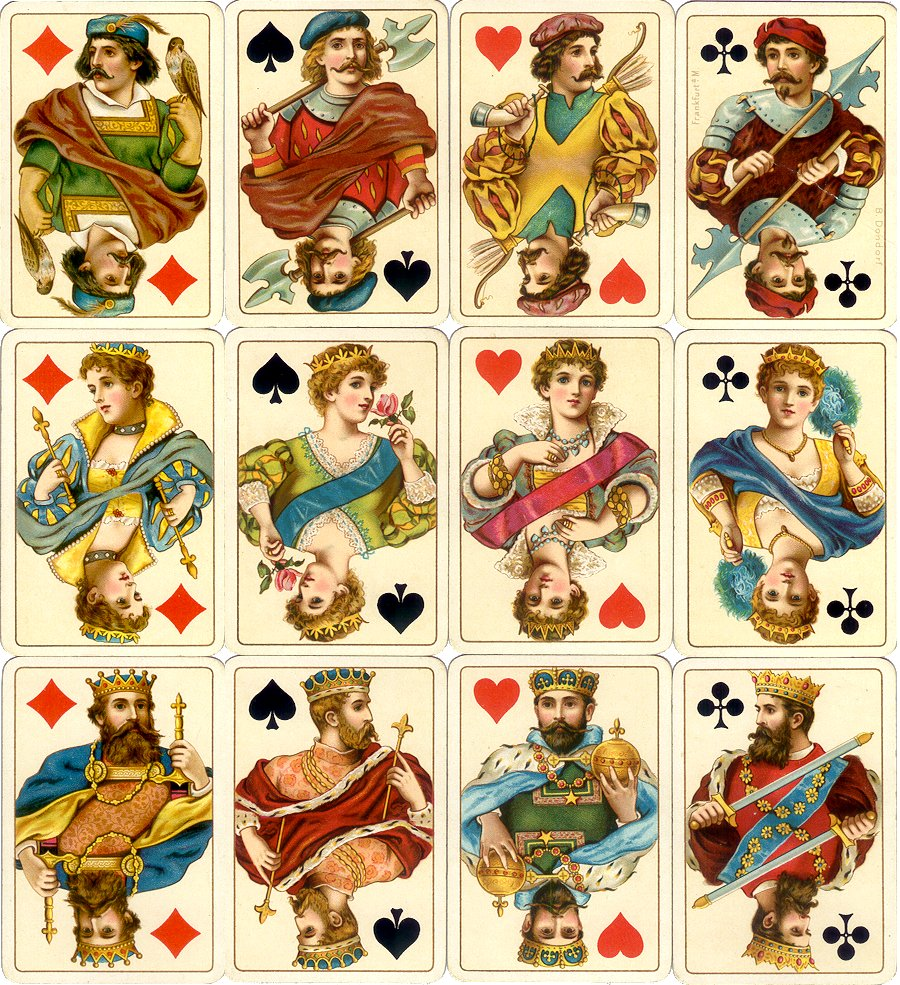 Dondorf's 'Rokoko' No.158 playing cards printed by chromolithography