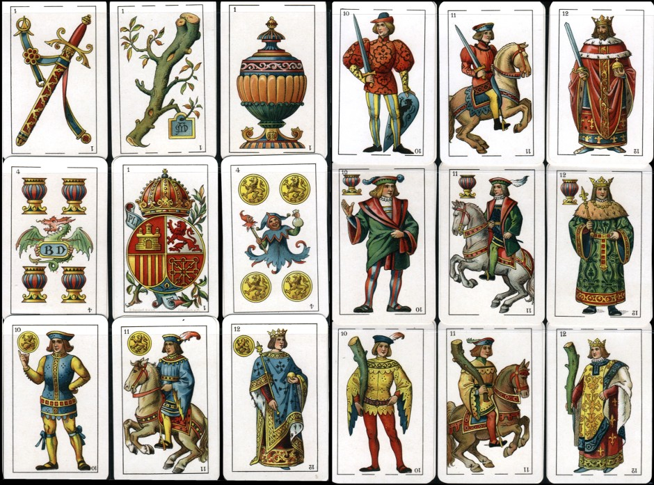 Spanische Spielkarten 'Naipes Finos' No.304, manufactured by B. Dondorf, 1902
