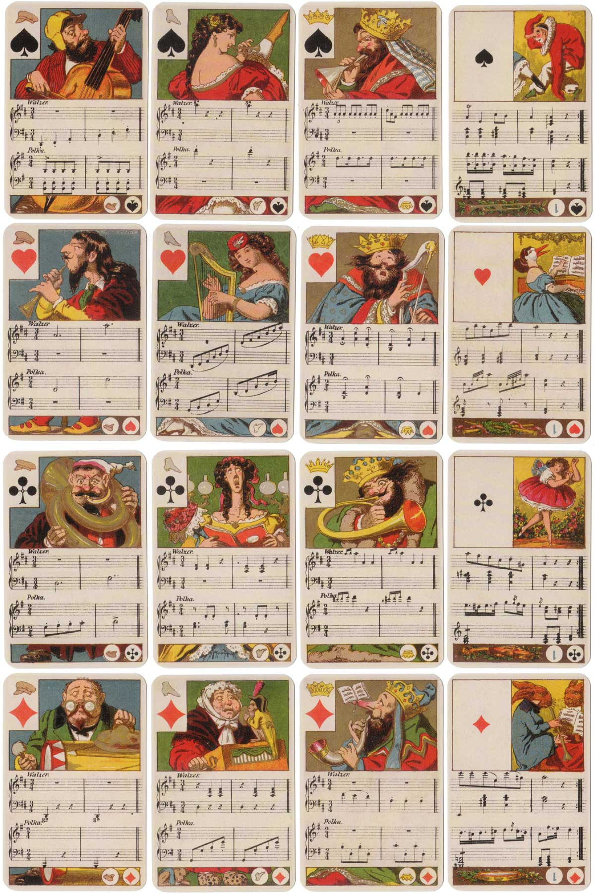 "Facsimile of Dondorf's ""Musikalisches Kartenspiel"" (c.1862) published by Lo Scarabeo, 2004"