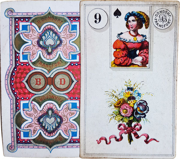 Dondorf's 'Wahrsage-Karten No.1' Madame Lenormand fortune-telling cards, c.1880