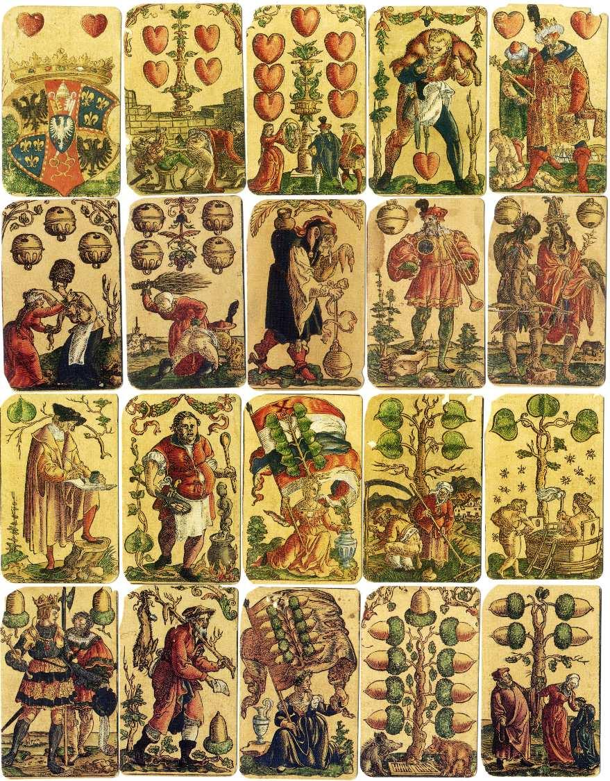 Satirical Playing Cards designed by Peter Flötner, Nuremberg, c.1545