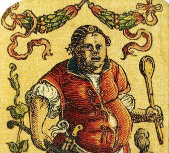 Detail from Satirical Playing Cards designed by Peter Flötner, Nuremberg, c.1545