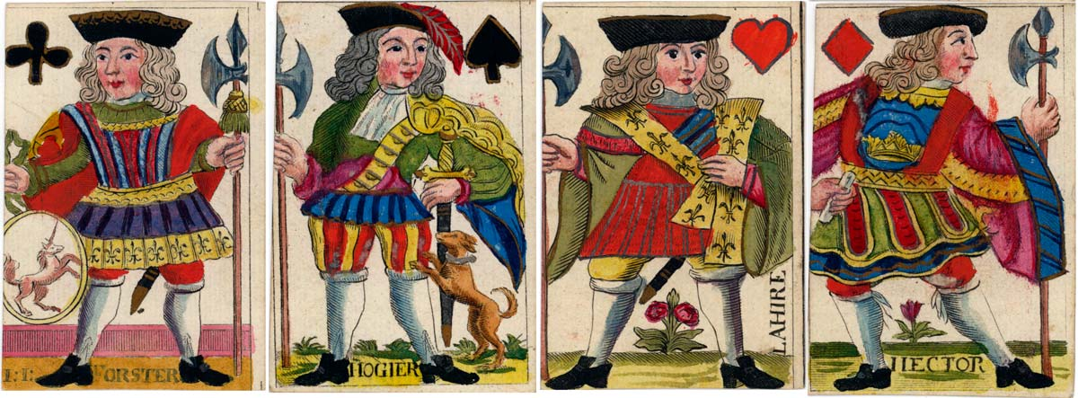 deck made by Johann Jobst Forster, Nürnberg, first half of 18th century