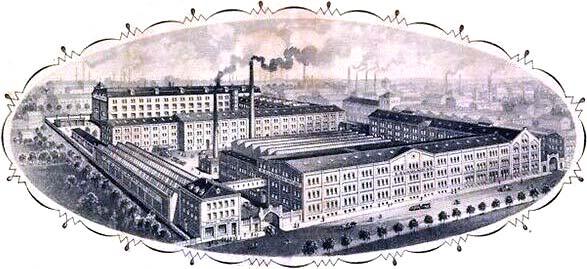 view of E. Gundlach factory, 1920s