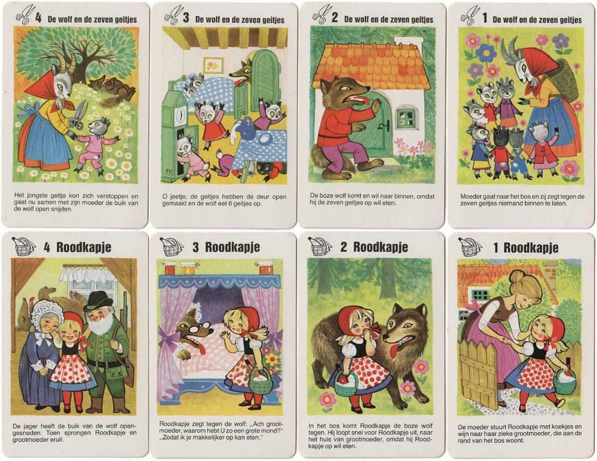 Fairy Tales quartet published by Heinrich Schwarz + Co for Dutch market, c.1970