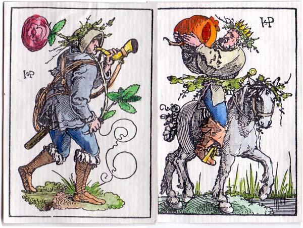 Hans Sebald Beham playing cards, c.1523