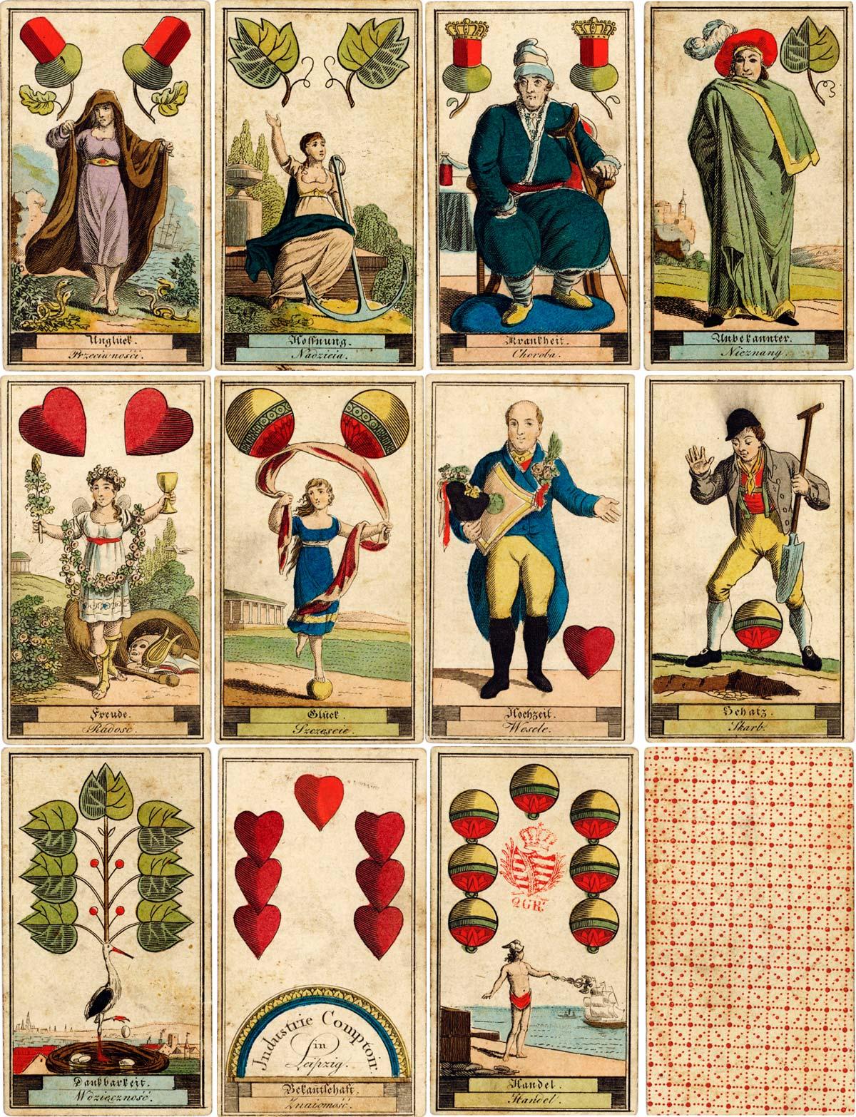 Fortune Telling Deck by Industrie Comptoir, Leipzig c.1818