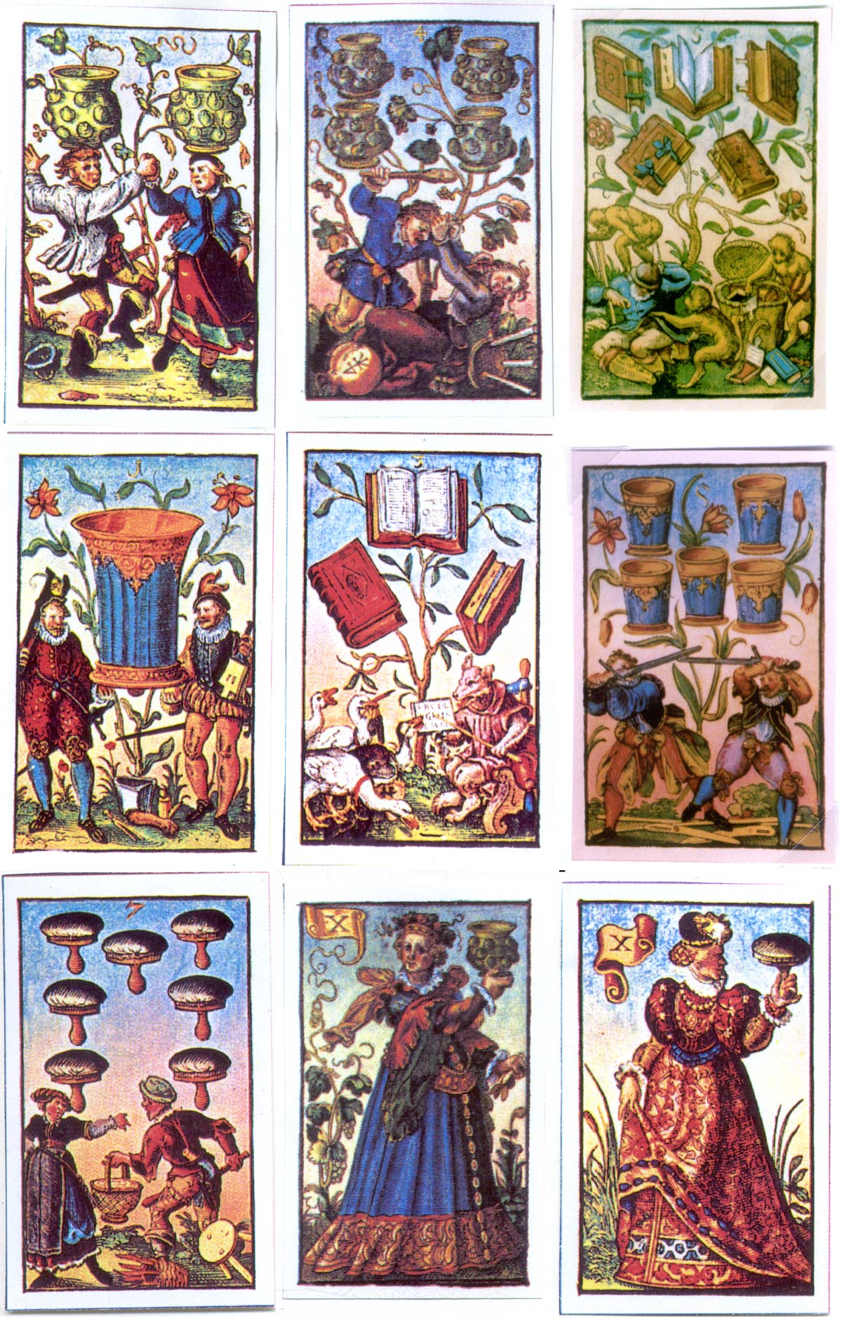 cards from the Book of Trades by the prolific German Renaissance artist Jost Amman (1539-91)