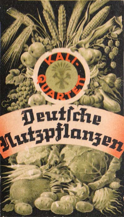 Deutsche Nutzpflanzen - Quartett game promoting Kali brand crop fertilizer, 1938