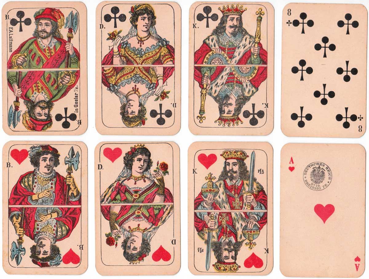 North German pattern manufactured by F.A. Lattmann, Goslar, c.1880-1890