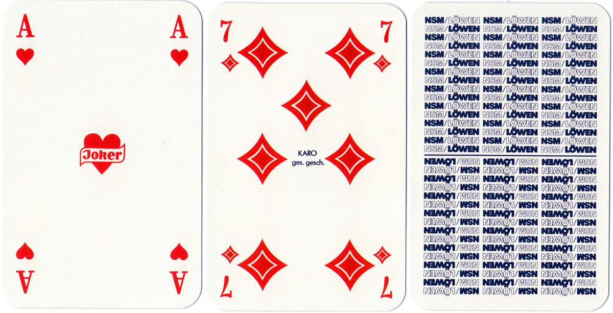 Skat deck for Löwen Entertainment, a German producer of electronic gaming machines, 1986
