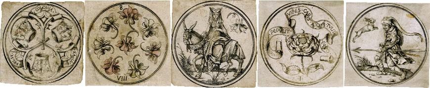 Master PW Circular Playing Cards, c.1500