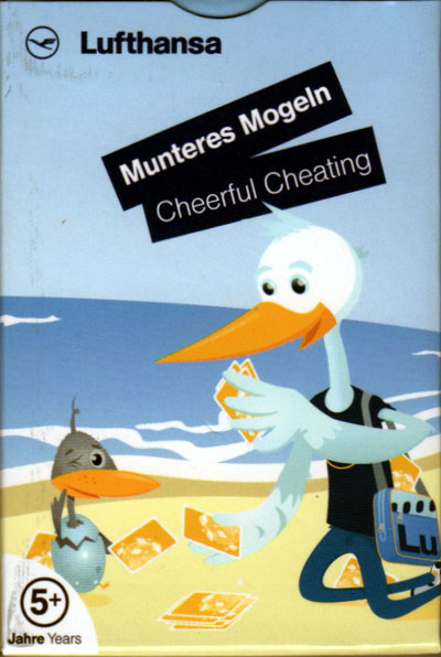 Munteres Mogeln (Cheerful Cheating) in-flight card game for Lufthansa by Spiriant