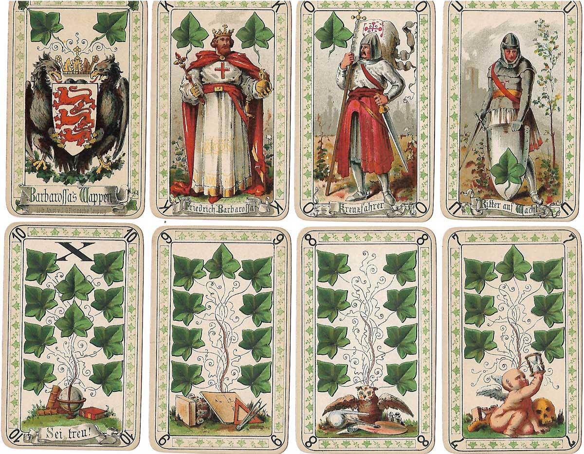 Neue Deutsche Spielkarte (New German playing cards) conceived by Dr. Timon Schroeter, 1883