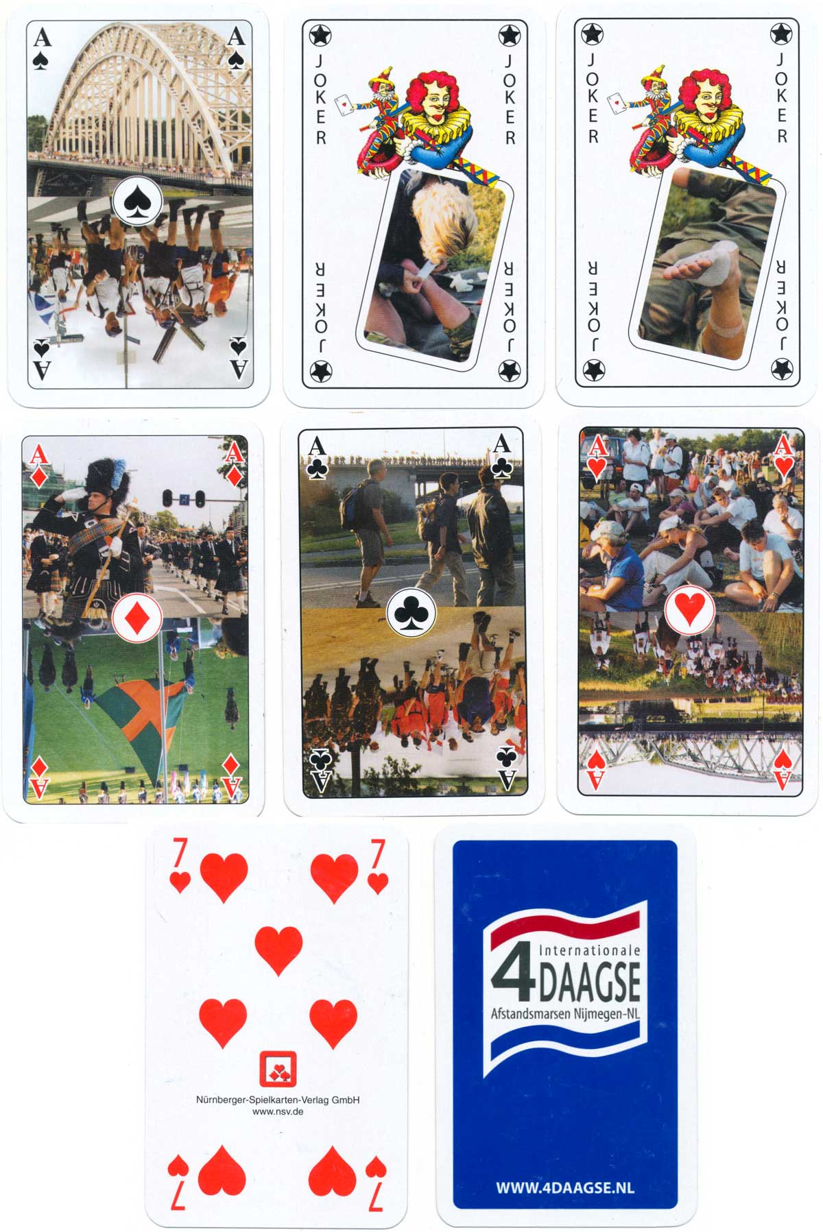 Dutch playing cards promoting the annual International Four Days of Walking Event held in Holland, 2016