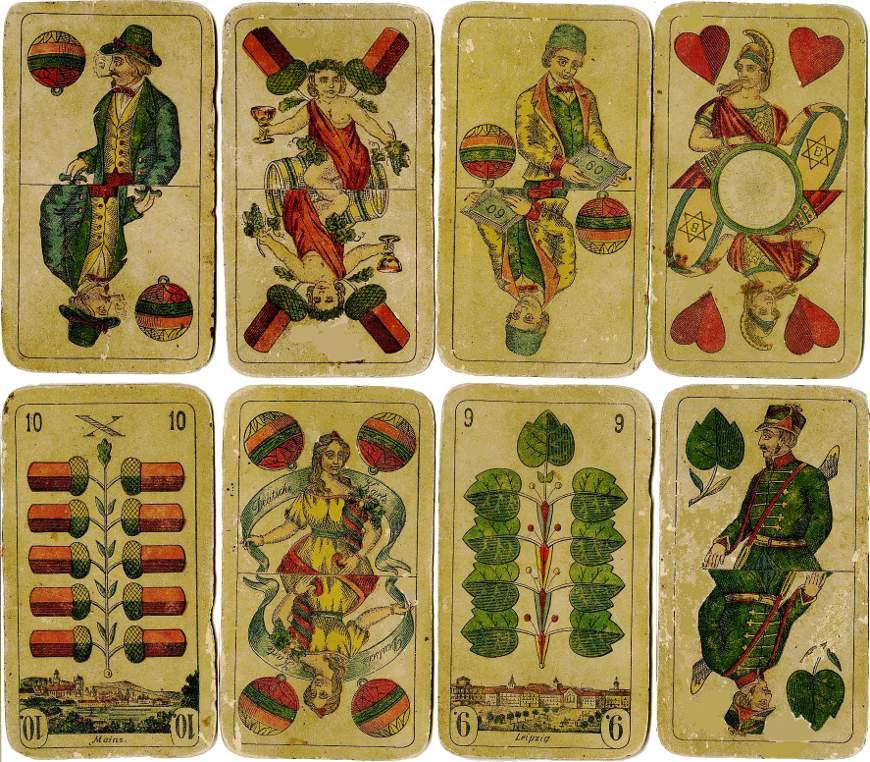 Prussian Pattern, later type, Altenburger Spielkartenfabrik Schneider & Co., c.1895