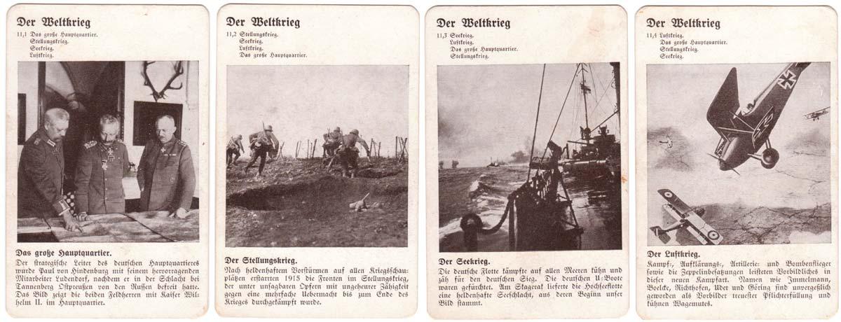"""""""Deutsche Geschichte"""" Quartet published by Otto Maier Verlag Ravensburg, c.1930-35"""