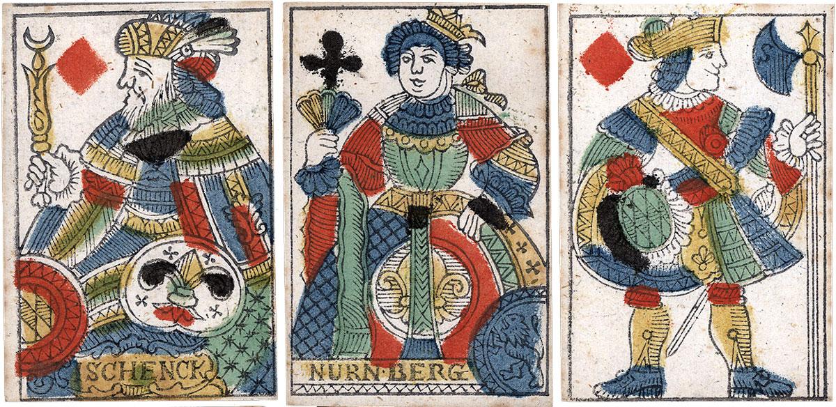 playing cards by I. Schenck, Nuremberg, XIXth century