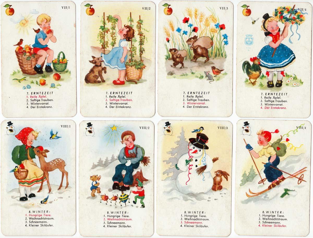 Die 4 Jahreszeiten - Four Seasons quartet game by F X Schmid, Munich 1950
