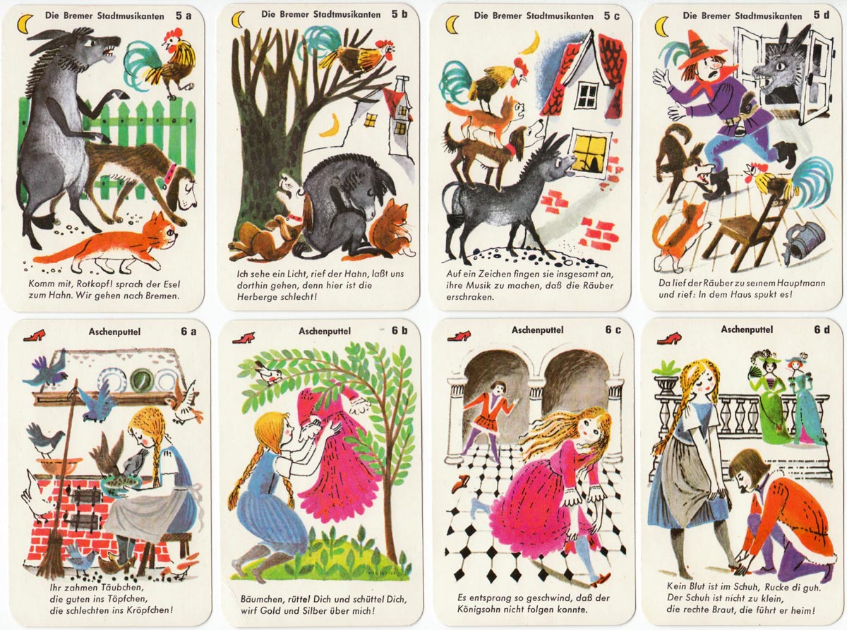 Märchen-Quartett Fairy Tales quartet game by F.X. Schmid, Munich, 1960