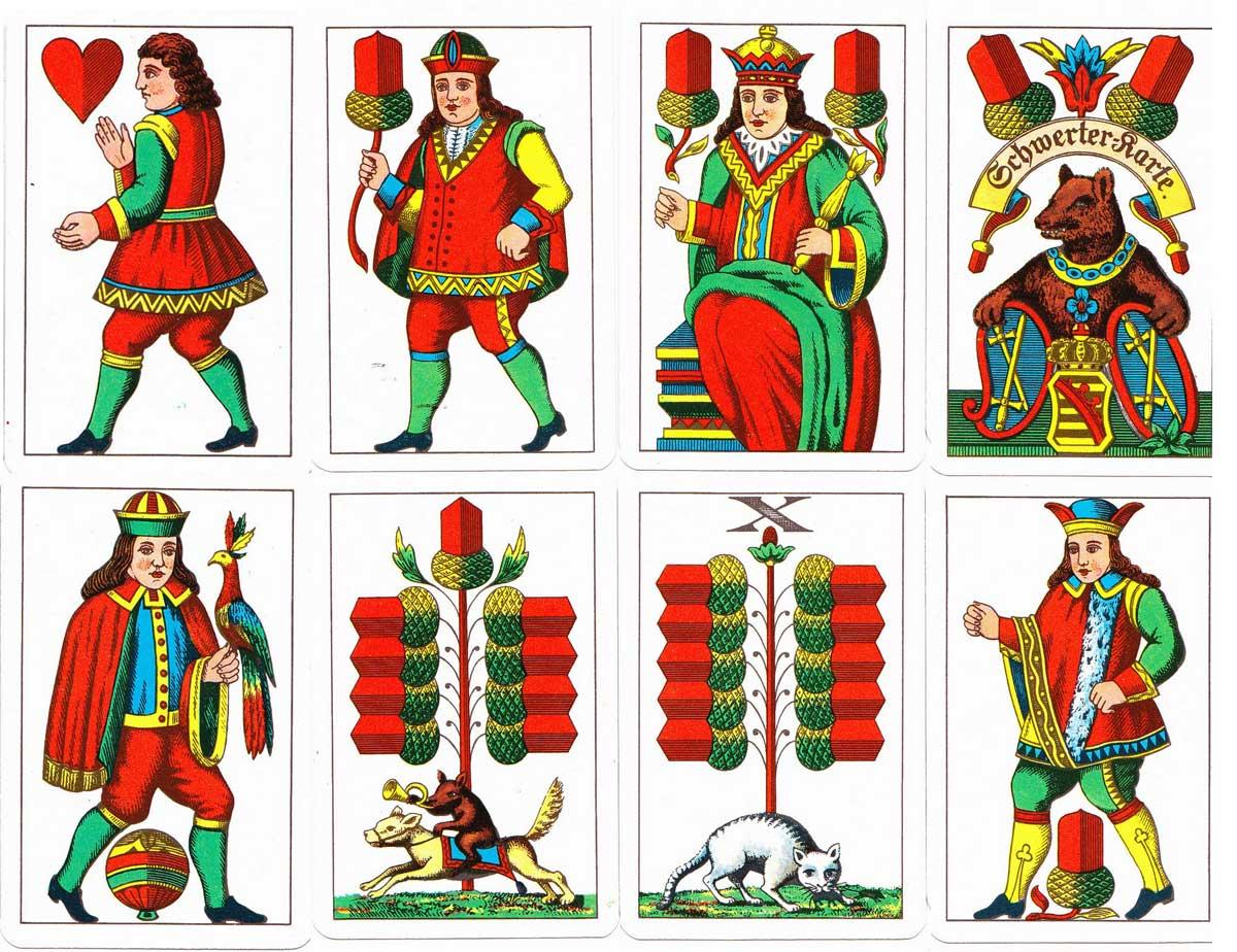 The German Saxon Pattern or Schwerter-Karte by VEB Altenburger Spielkartenfabrik