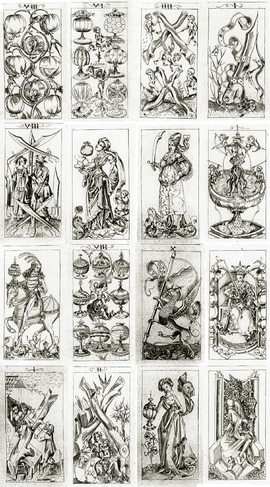 graphic about Free Printable Tarot Cards referred to as South German Engraver - The International of Actively playing Playing cards