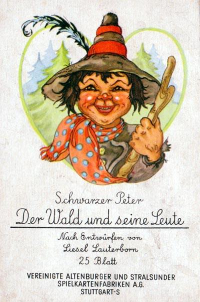Schwarzer Peter Der Wald und seine Leute illustrated by Liesel Lauterborn, 1955