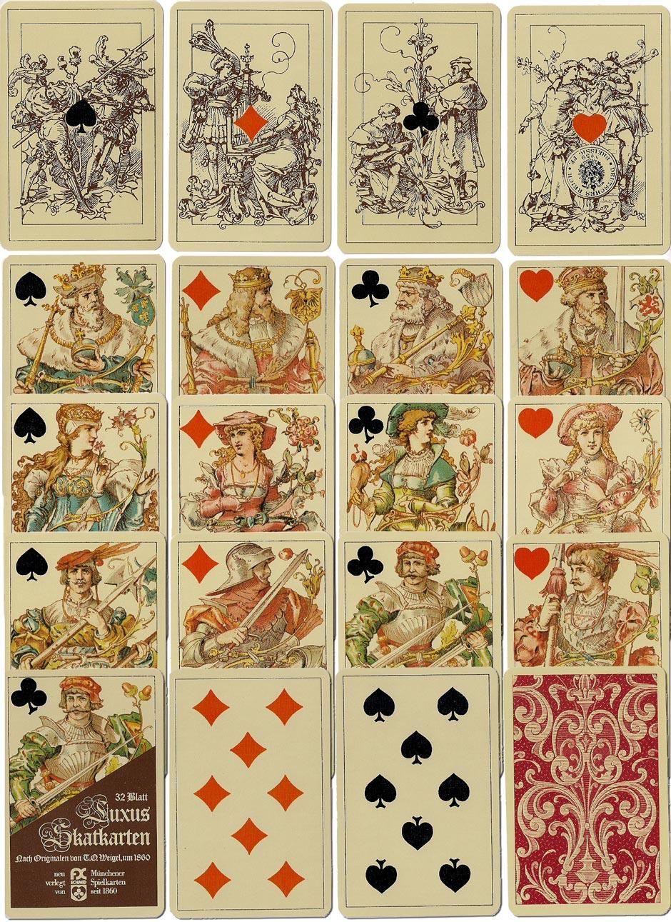 T.O.Weigel's 'Luxus Skatkarten' (c.1880), reprinted in facsimile by F.X.Schmid, Munich, 1981