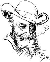 Wilhelm Busch self-portrait