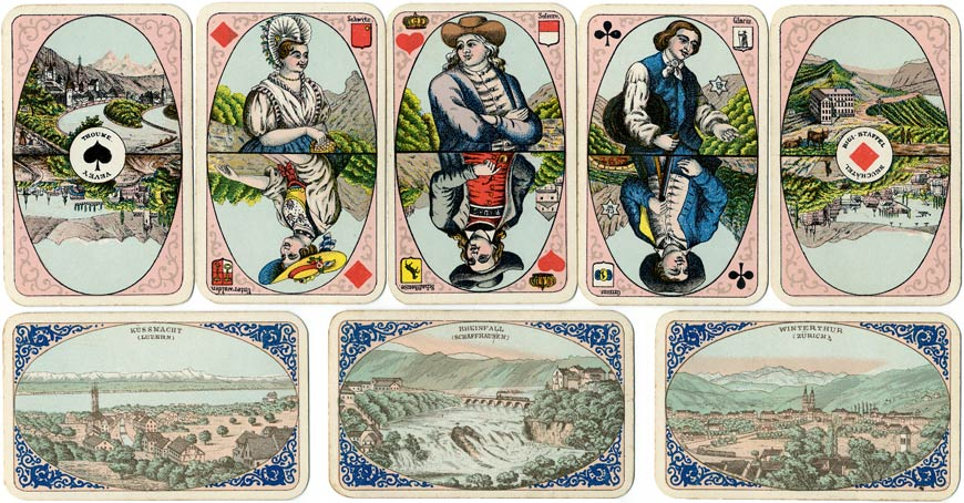 Swiss Album playing cards made by C. L. Wüst, c.1890