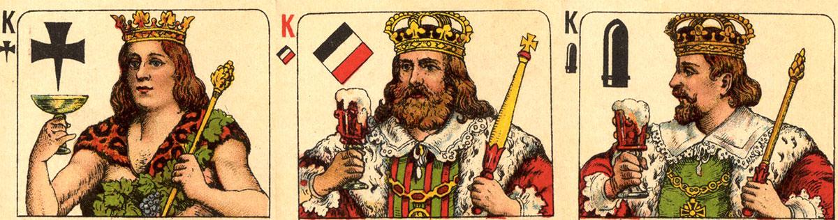 'Deutsch ist Trumpf' patriotic deck, c.1915