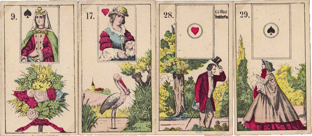 Wüst Lenormand cards, c.1860