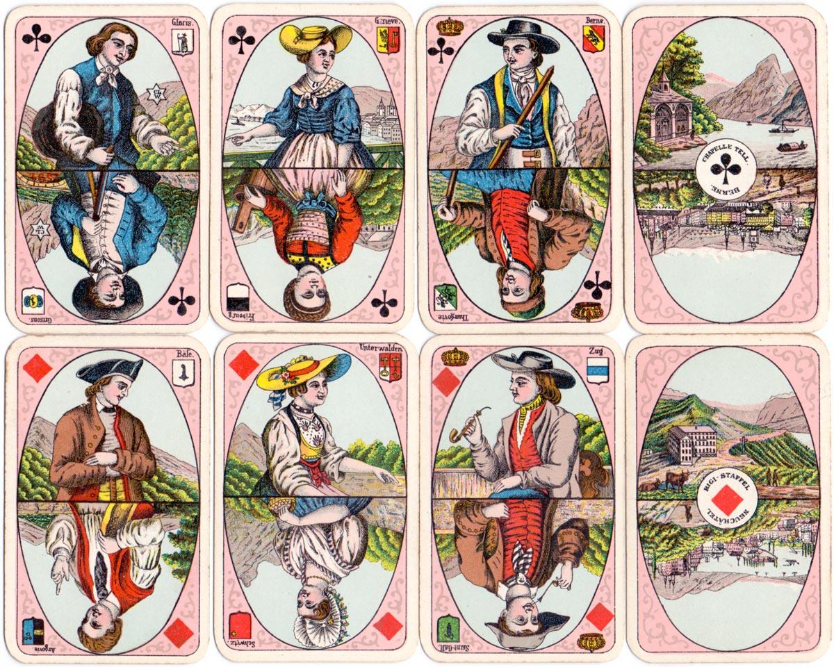 Swiss Album patience No.90 manufactured by C. L. Wüst (Frankfurt), c.1900