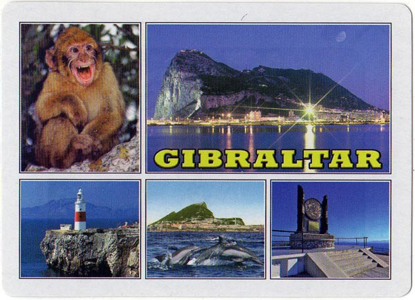Souvenir Photos of Gibraltar playing cards published by Estoril, c.2012