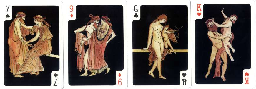 Antique Lovers playing cards published by Editions Panco-Carta
