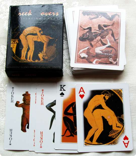 Greek Lovers playing cards