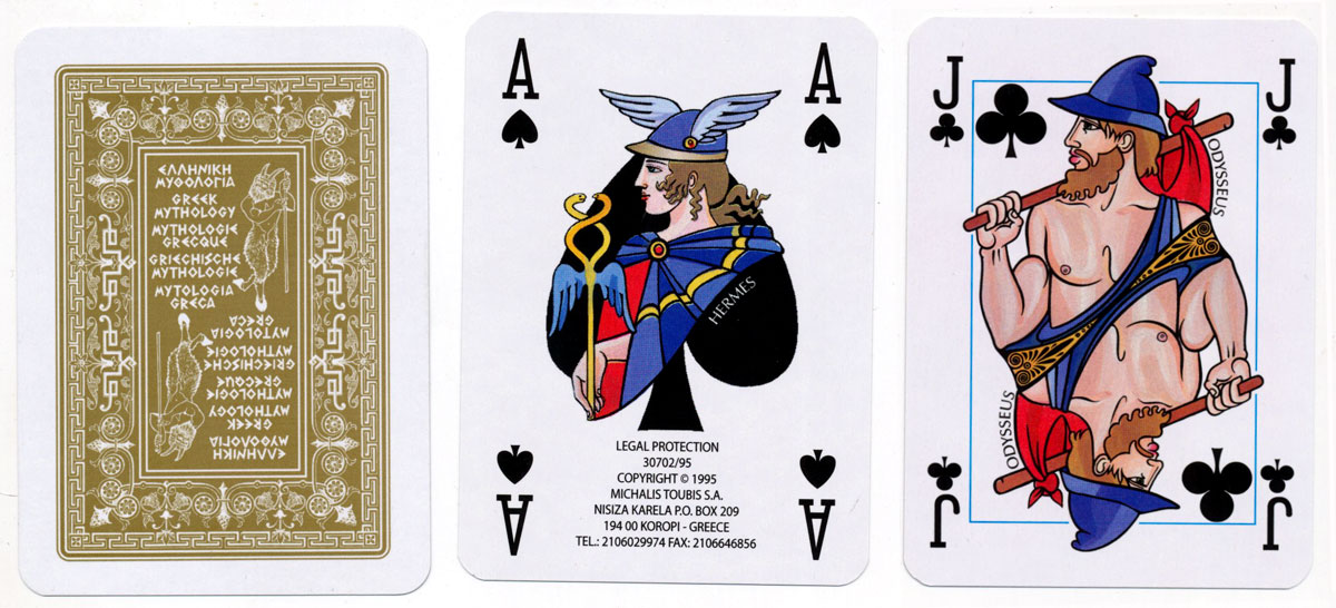 Greek Mythology playing cards published by Michalis Toubis S.A., 1995