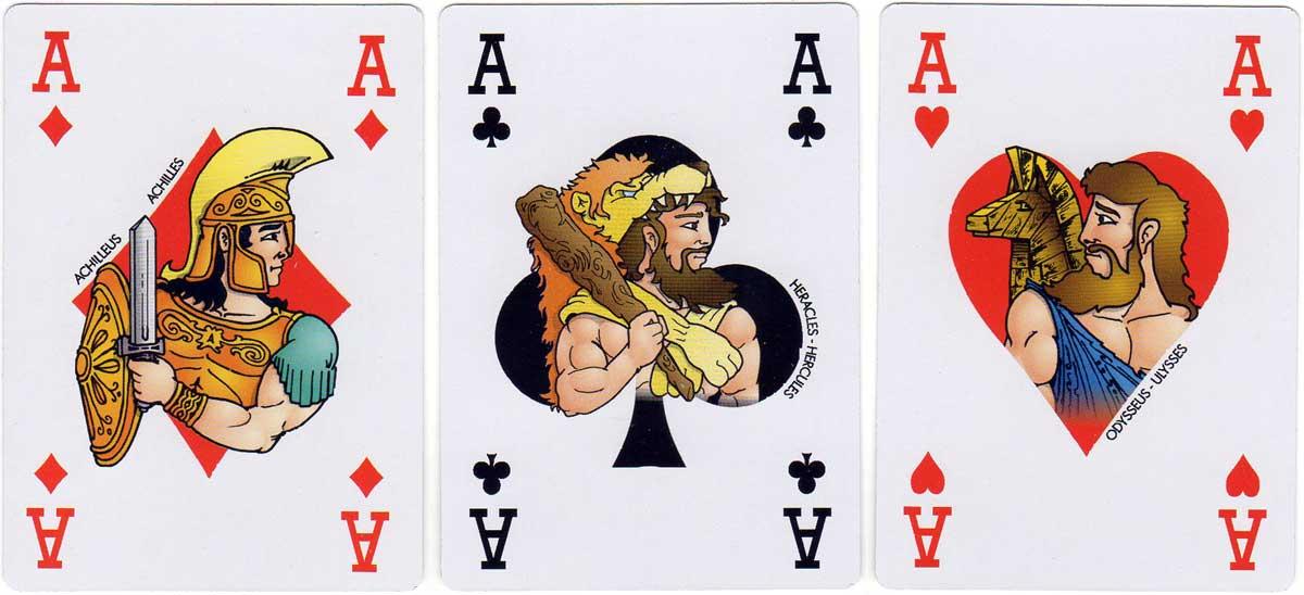Greek Mythology playing cards published by Editions Haitalis