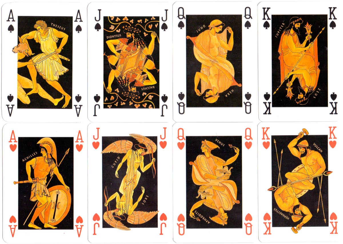 Greek Mythology playing cards published by Greko Editions, Athens, c.1990